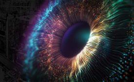 closeup of a human eye