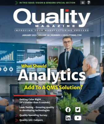 Quality January 2021 cover