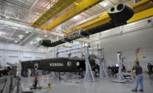 V 280 valor assembly in a hangar
