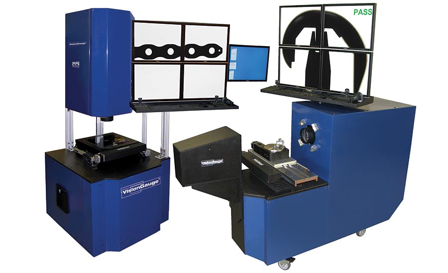 This digital optical comparator is available in both horizontal and vertical configurations