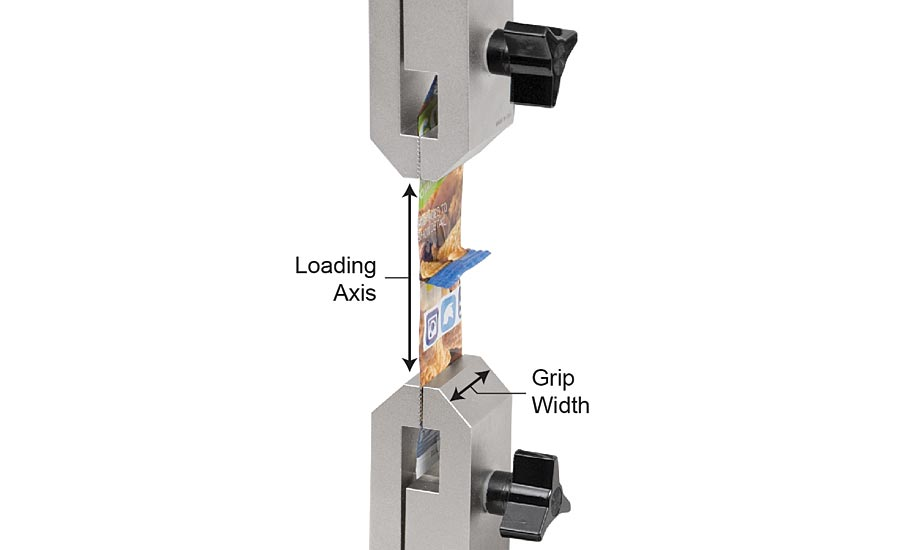 A grip's width should be as closely matched to the sample width as possible.