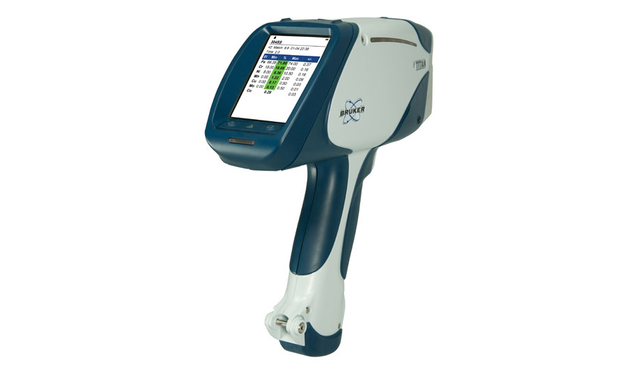 Handheld XRF analyzers can be used for non-standard quality control applications. Source: Bruker