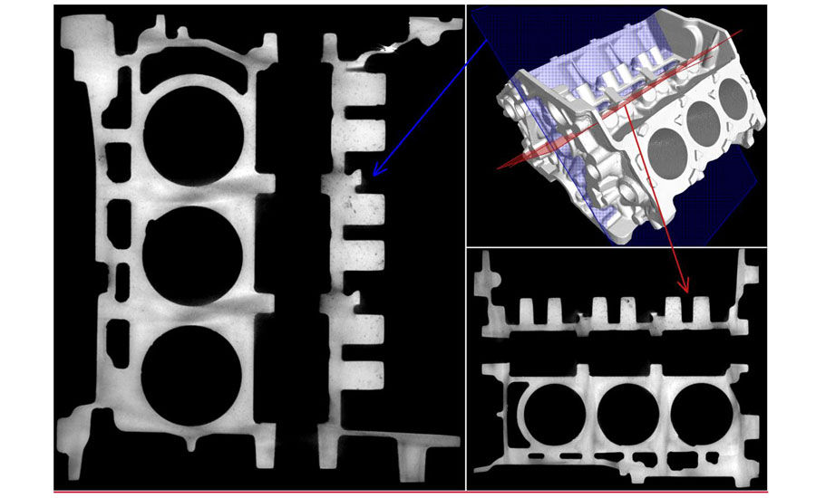 CT images from V6 mini-engine block that was scanned by Nikon's MCT225 system.