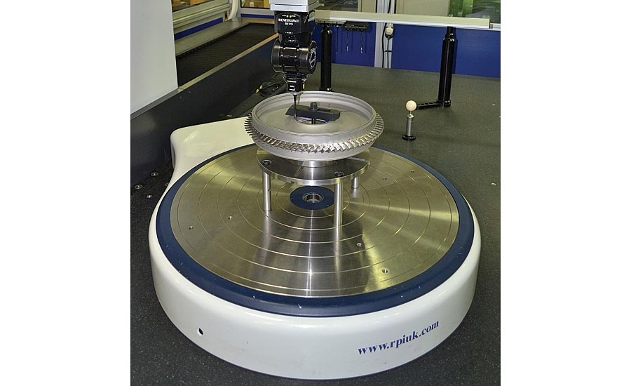 A rotary table will significantly improve overall measurement accuracy of a CMM. Source: RPI