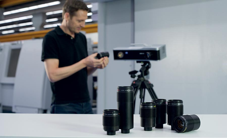 Cameras and projectors use interchangeable lenses to cover a range of different-size fields of view. Source: ZEISS