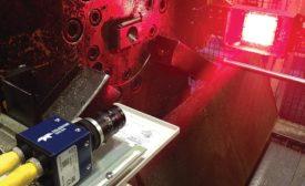 Smart cameras inspecting parts