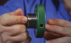 Thread ring and plug engagement.