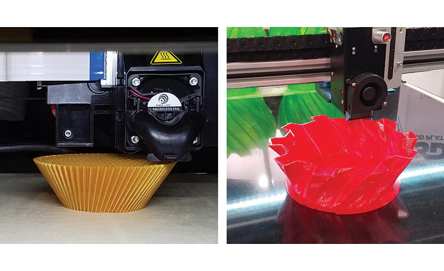Nonmetallic additive manufacturing images. Source: Weaver