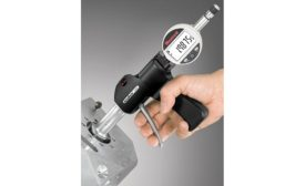 This electronic bore gage offers Bluetooth capability.