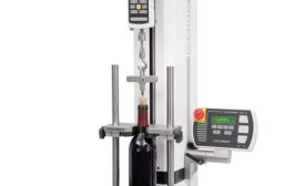 Cork extraction force measurement fixture from Mark-10.