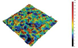 This is a 3D topography of sheet steel surface.