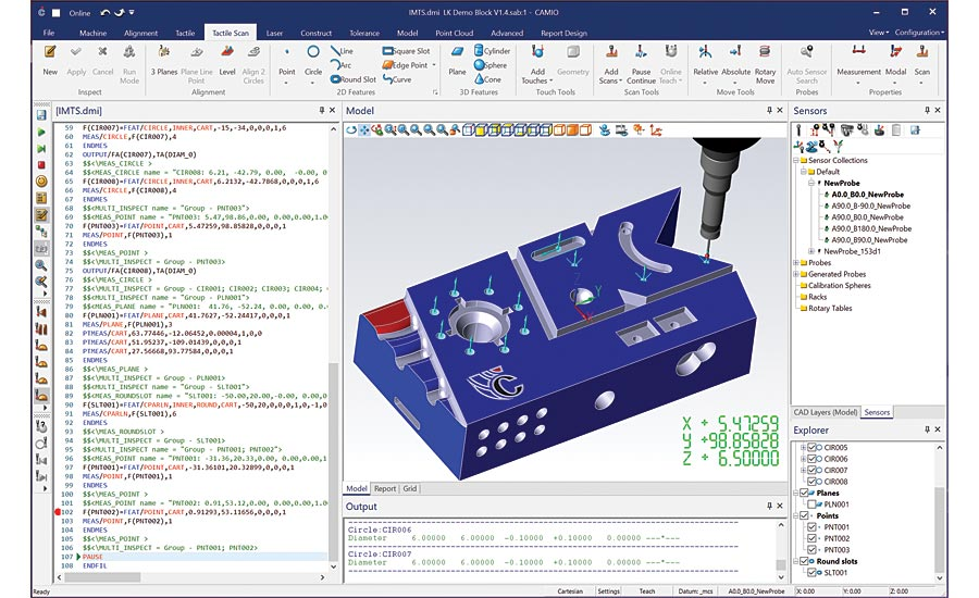 CMM software from LK Metrology.