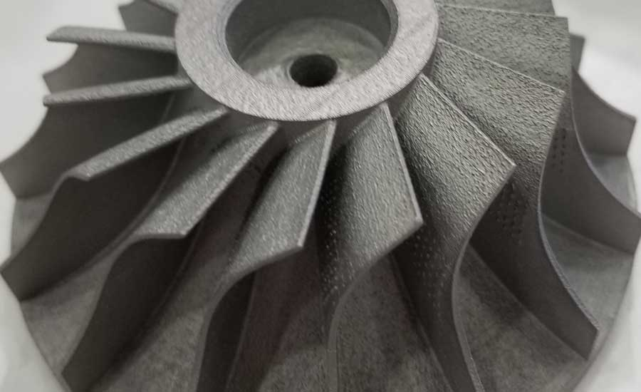 A 3D-printed impeller