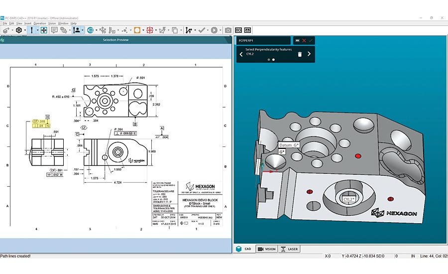 Measurement software from Hexagon.