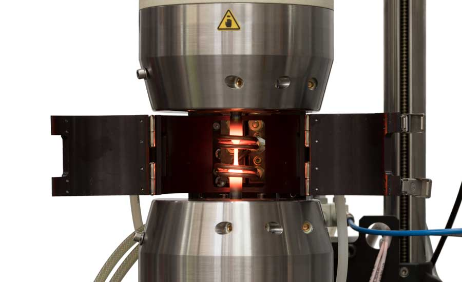 Cyclic thermal loading using a TMF loadstring. Source: Instron