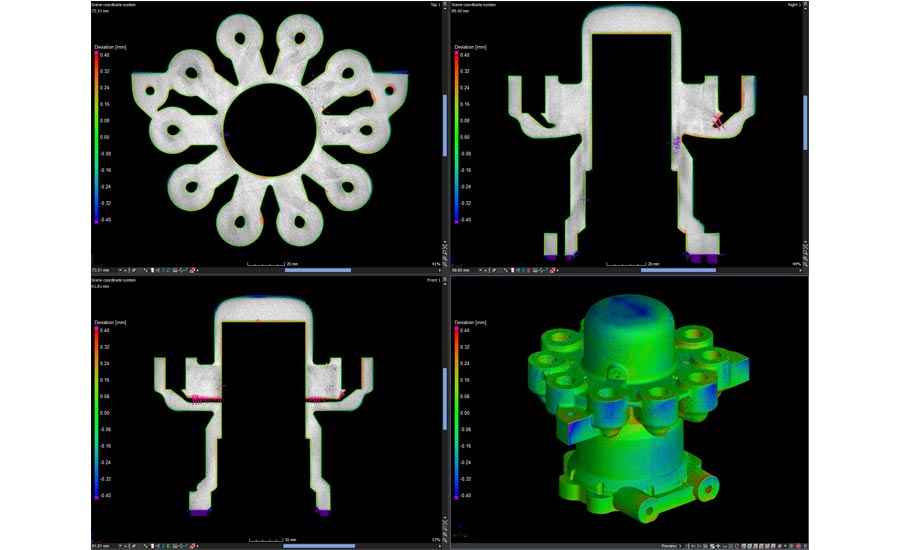 CT analysis of additive manufactured part