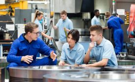 Quality Magazine: Training that meets the needs of today's manufacturers. Image of people being trained.