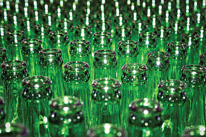 green bottles quality optical inspection