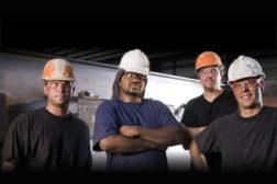 tribal knowledge hard hats men working
