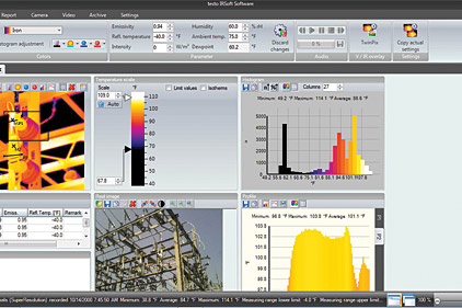 thermal imaging software graphs