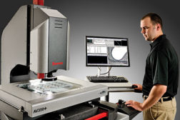 vision meets metrology man working machine