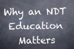 NDT chalkboard learning school
