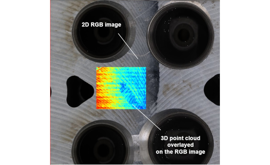 IPS –F100-3D Simultaneously generates a 2D RGB image and a dense 3D point cloud