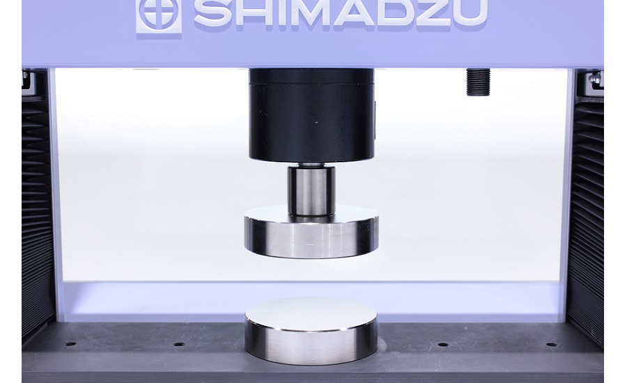 compressive testing with Shimadzu