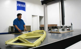 Zeiss Employee Working on Aerospace Metrology Solution