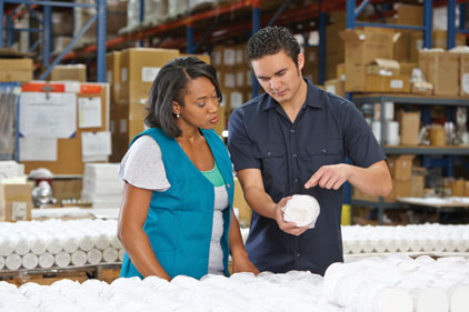 best practices man woman working factory